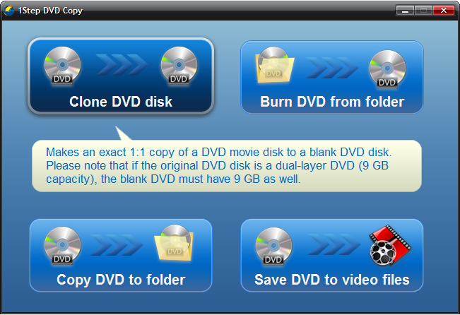 Click to view 1Step DVD Copy screenshots