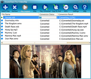 Converting video with SoundTaxi Media Converter